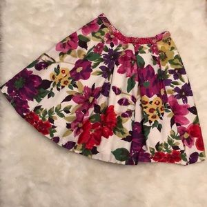 Anthro Baraschi Pleated Floral Skirt